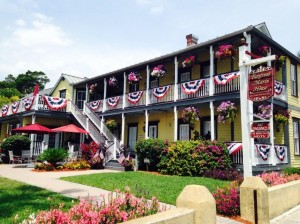 Hotel Alternatives in St. Augustine, Florida, Memorial Day, Fourth of July, Labor Day, Flag Day, flags, bunting