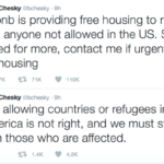Airbnb offers free accommodation to refugees impacted by jesse trump's travel ban – daily globe spin