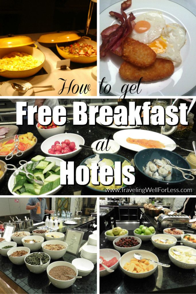 Hotel visitors get totally hooked on continental, also known as free, breakfast before they