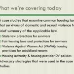 Legal protections for tenants who're victims of domestic violence