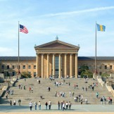The famous East Steps of the Philadelphia Museum of Art.