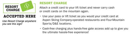 Resort charge having to pay