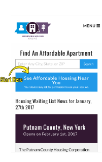 Steps to locate affordable housing the space between market rent