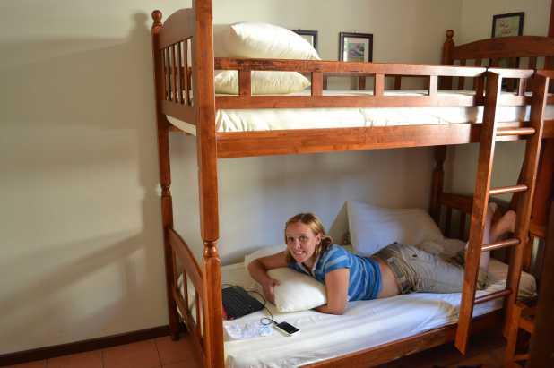 Our hostel in Kota Kinabalu, Malaysian Borneo